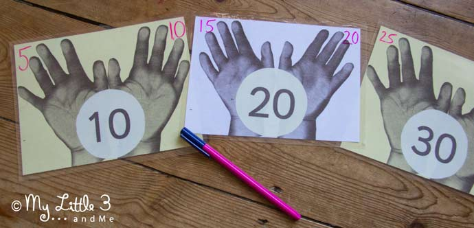 Count to 100 in 1's, 5's and 10's with this simple times tables games and early maths skills set. from My Little 3 and Me.