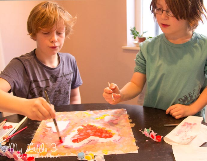 Heart Sun Catchers - a fun art idea for kids, great for Valentine's Day or Mother's Day