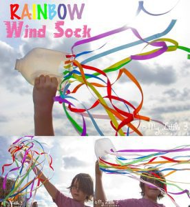 How To Make A Windsock: Rainbow Craft For Kids