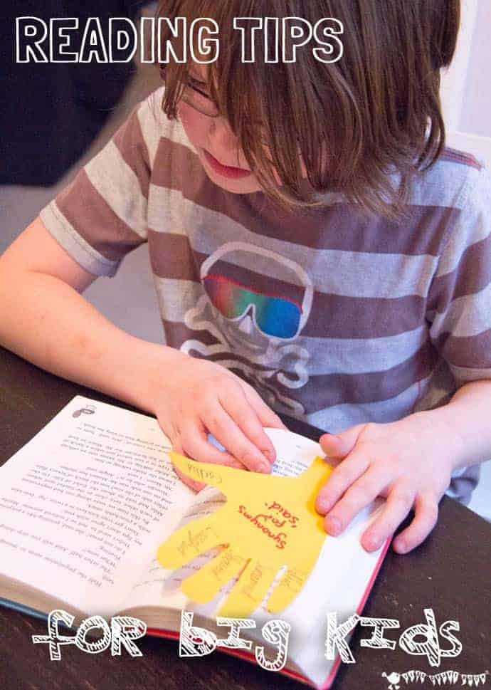 Reading Tips For Big Kids - help promote a life long love of reading.