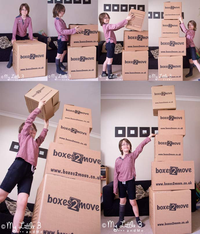 Having fun building enormous towers ! (Boxes 2 Move review and discount.)