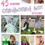 Cardboard Box Activities, Arts and Crafts For Kids