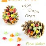 Autumn Tree Pine Cone Craft
