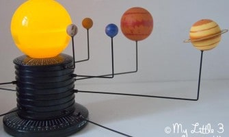 We've been learning about space with Learning Resources' Motorised Solar System.