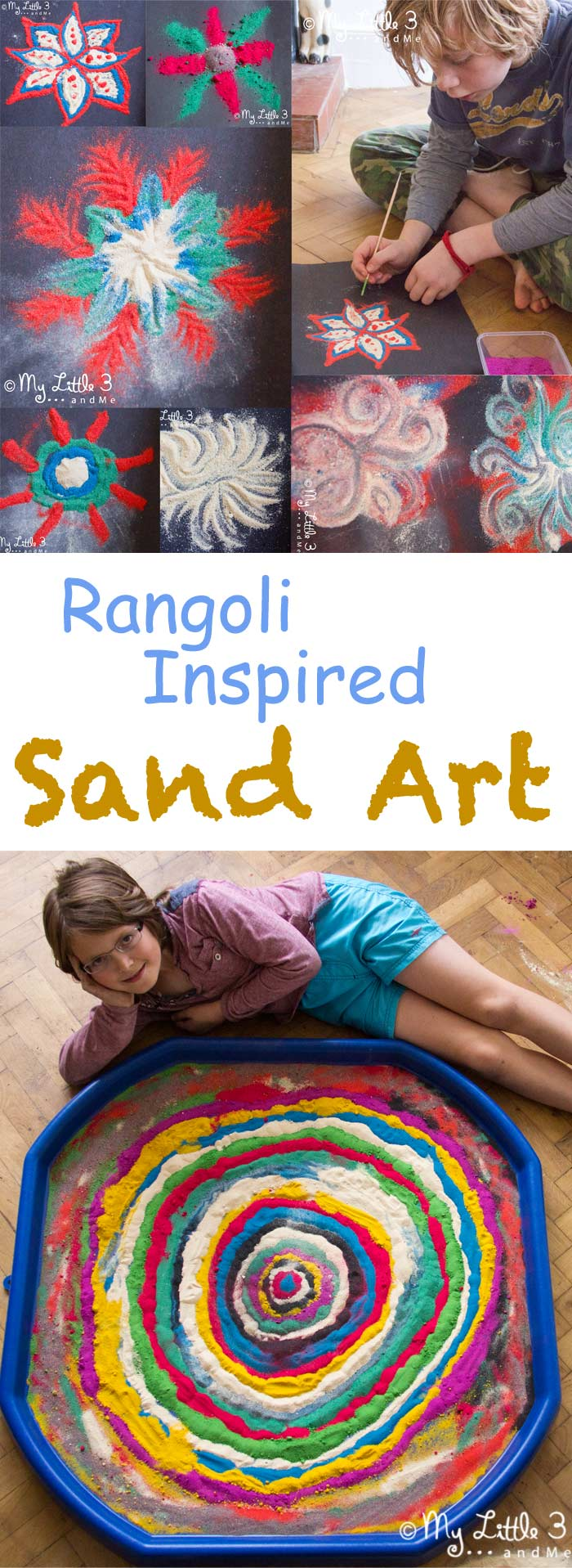 I hope this post will get you itching to try some sand art with your children. This has got to be my all time favourite activity so far! Rangoli inspired sand art was such a great avenue to explore transitory and collaborative art and for the children to experiment and develop confidence in their own artistic abilities. Take a peek...I think you'll love, love, love!