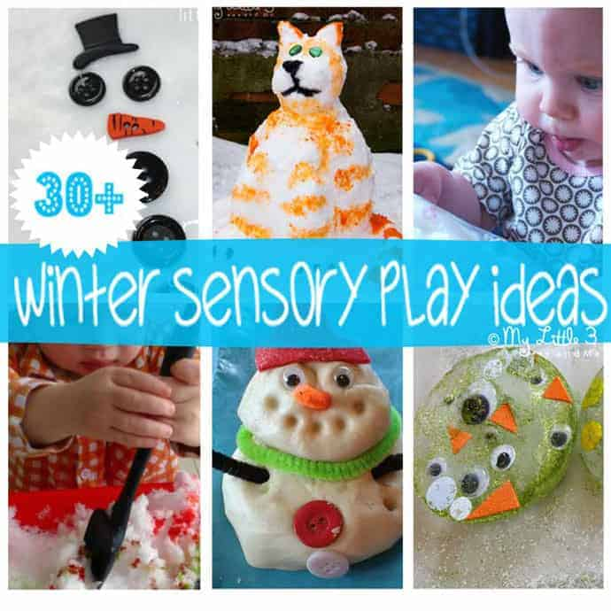 Brrrr...Over 30 frosty, frozen and fun WINTER SENSORY PLAY IDEAS for kids. A fantastic way to play and learn that engages the senses! #sensory #sensoryplay #sensoryactivities #winter #winteractivities #kidscraftroom #invitationtoplay #playideas #winter #winteractivities #winterplayideas #sensoryseeker #sensoryprocessing