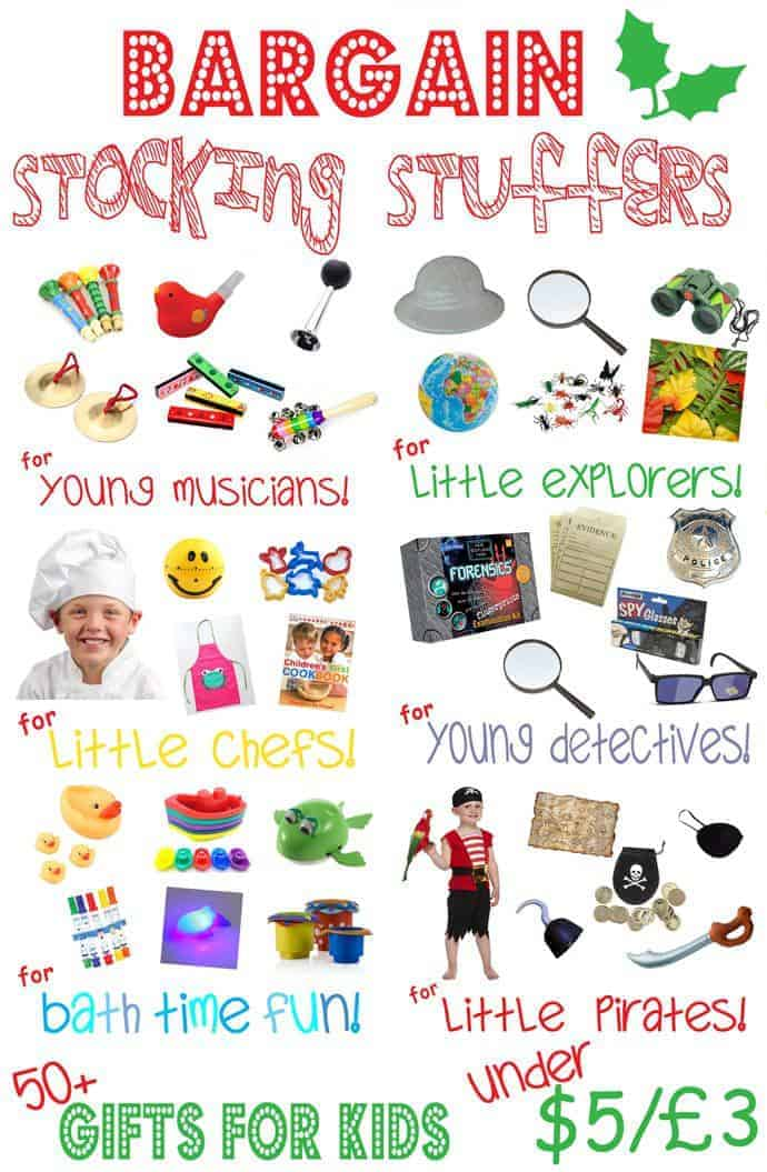 STOCKING STUFFERS FOR KIDS WITH LASTING VALUE. Don't waste money on toys that get discarded after Christmas. These bargain stocking stuffers will promote play and learning all year round.