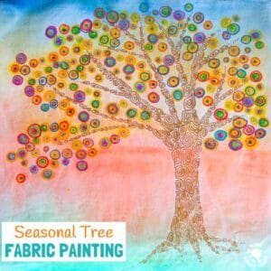 Fabric Painting Fall Tree Art Project For Kids