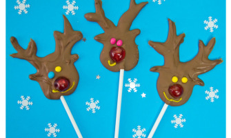 Cristmas cooking With Kids-Homemade Chocolates-Reindeer Lollies