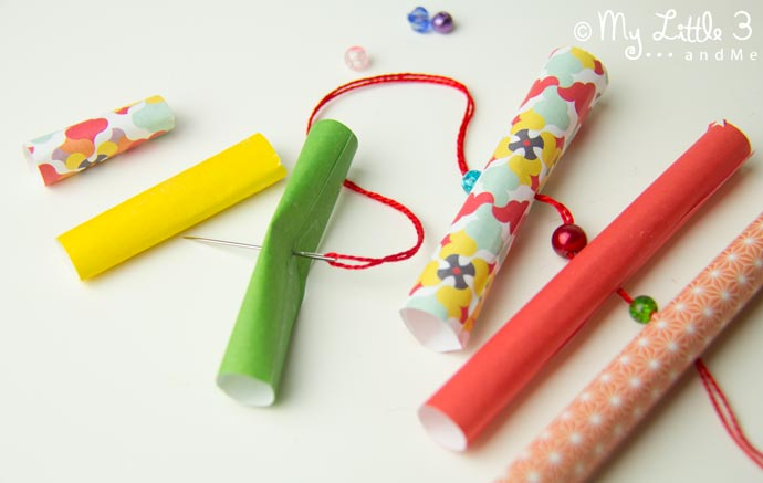 have fun with paper beads to make adorable homemade christmas ornaments our paper tree