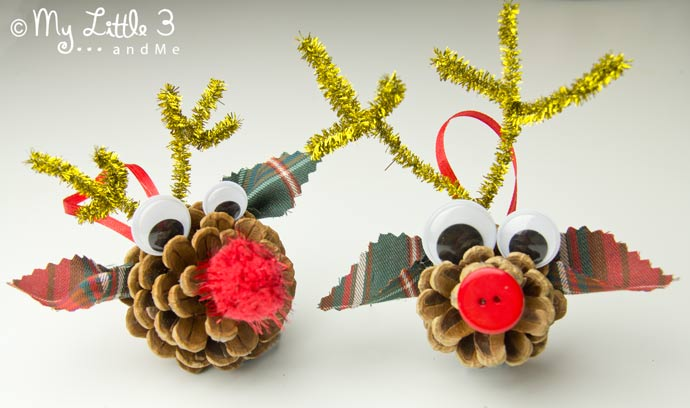 Do you love all things Rudolf? Our homemade Pinecone Reindeer Ornaments are so easy to