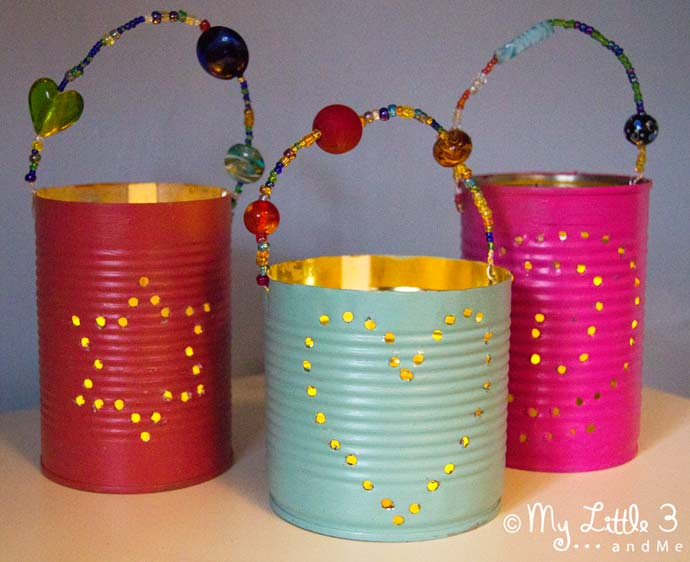 Homemade gifts tin can lanterns kids craft room for Handmade things videos
