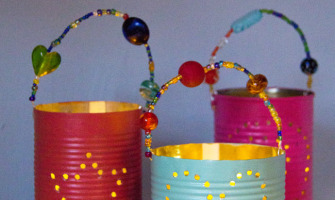 Show someone they're special with a gorgeous homemade gift. Our Tin Can Lanterns are beautiful presents kids can make.