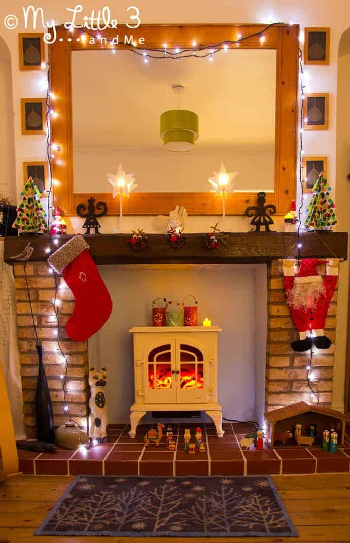 Our Christmas Hearth Decorations Kids Craft Room