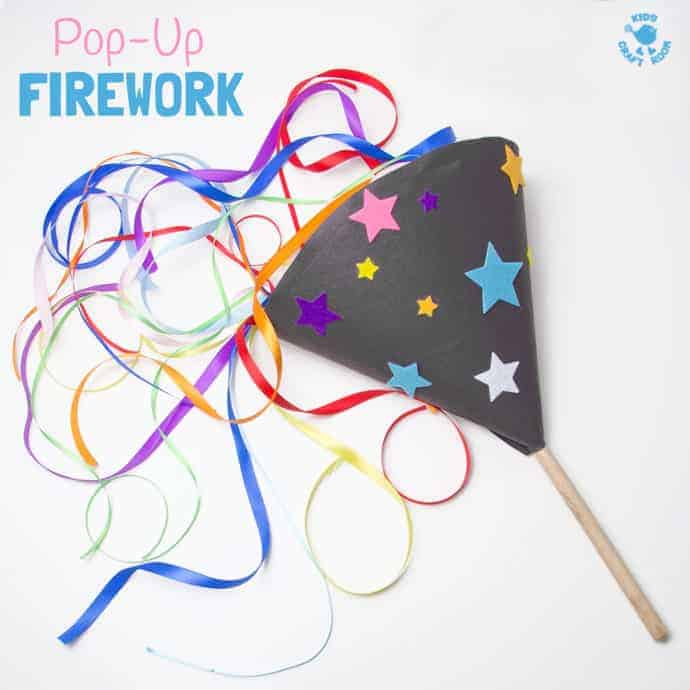 Pop Up Homemade Firework Craft Kids Craft Room