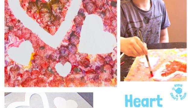Heart Suncatchers / Window Clings – Process Art