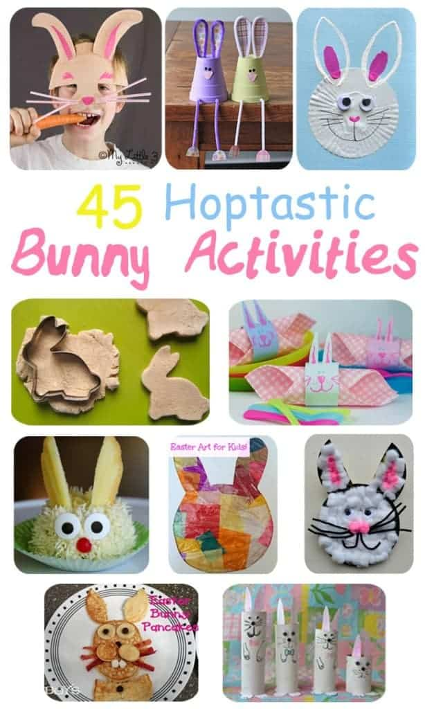 HOP-TASTIC EASTER BUNNY IDEAS FOR KIDS Here are 45 of the best rabbit crafts, activities and tasty treats to fill your kids Easter activities with bouncy bunny fun.