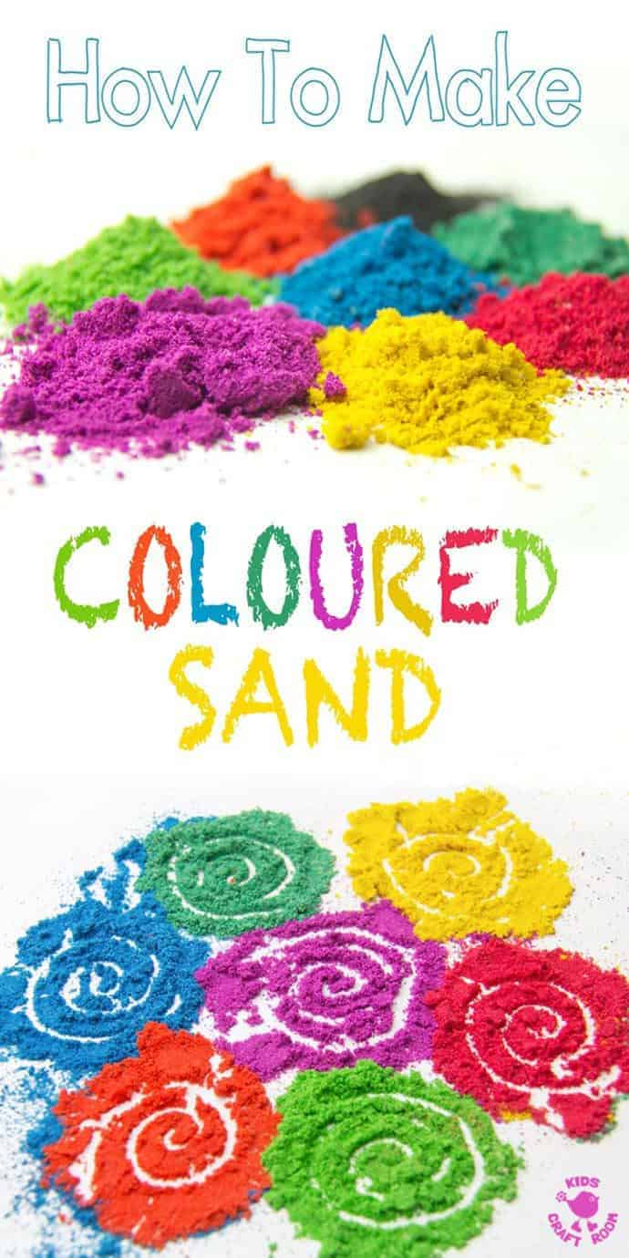 How To Make Coloured Sand - Kids Craft Room