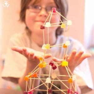 STEM FUN - Build it high, build it low, and pop a few in your mouth as you go! Serious 3D fun for kids!