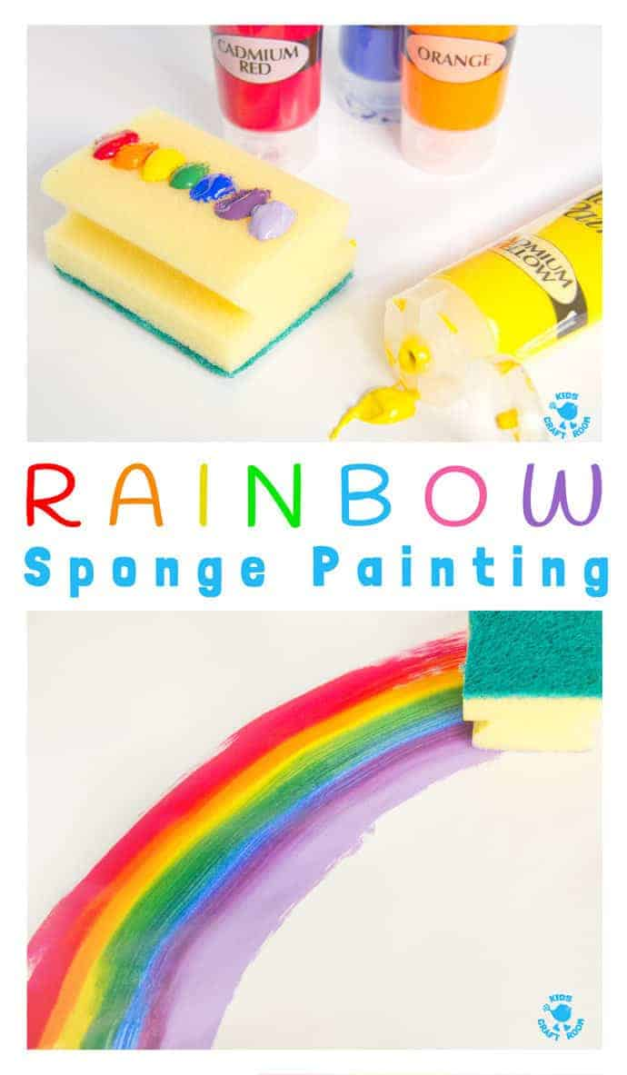 rainbow sponge painting fun rainbow art for kids that explores colour mixing blending and - Colour Painting For Kids