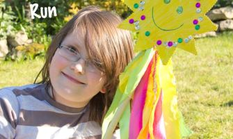 A fun Sunshine Wand great for outside play, movement and self expression.