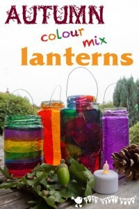 Colour Mixing Lanterns – Autumn / Fall Craft