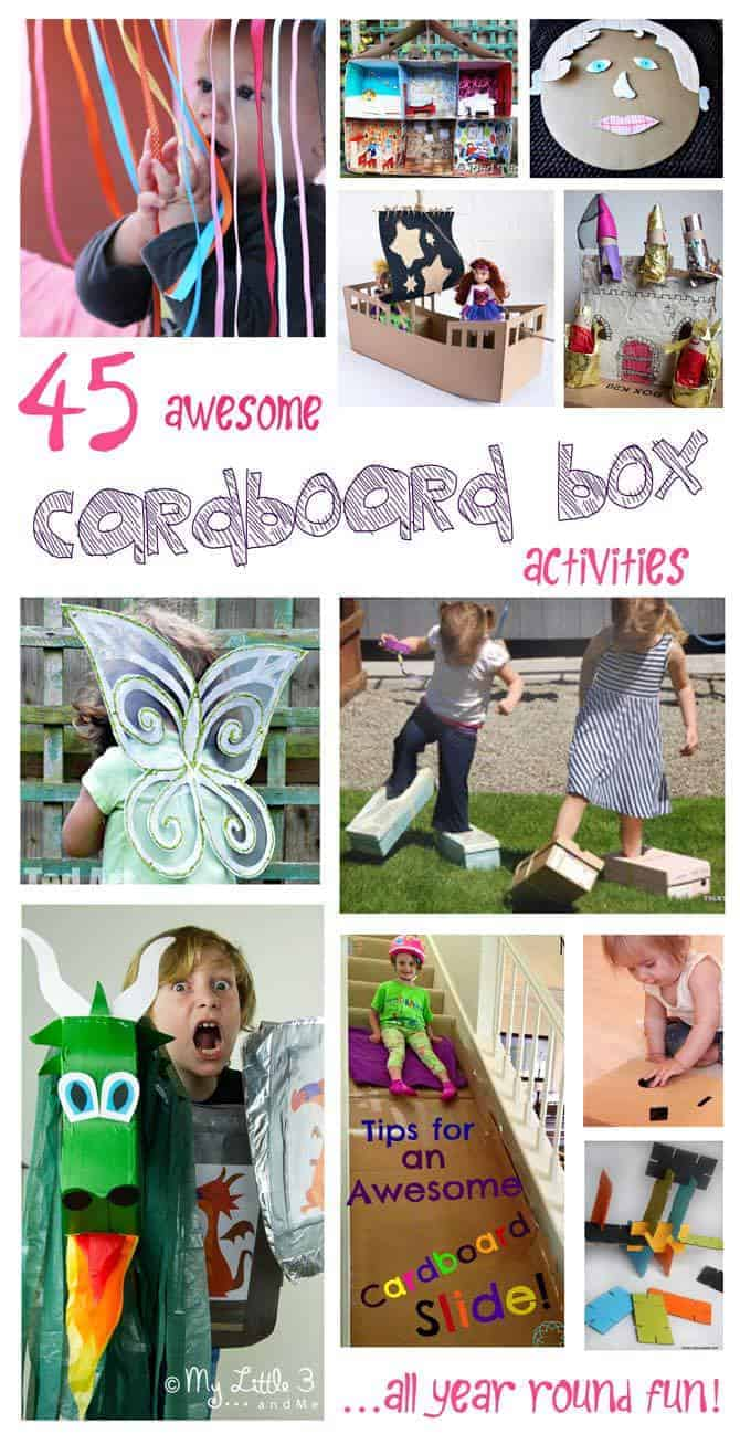 Arts and craft box - 45 Awesome Cardboard Box Activities Arts And Crafts For Kids For All Year Round Fun