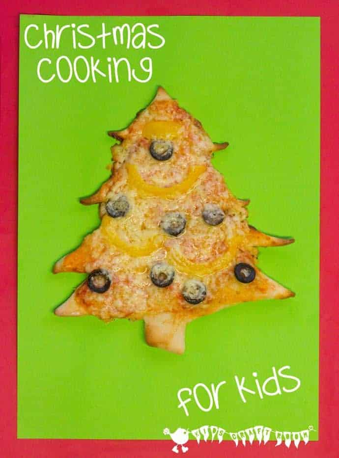 Cooking With Kids - Christmas Tree Pizza - Kids Craft Room