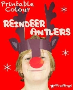 Reindeer Antlers Christmas Headband – Colour Printable