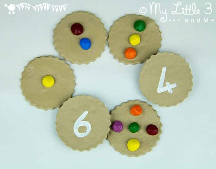 Homemade Counting Cookies - great for early number skills and imaginative play.