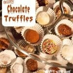 EASY CHOCOLATE TRUFFLE RECIPE - A great Brazilian Brigadeiro recipe for cooking with kids, and they make super gifts too!