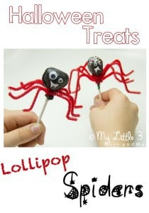 Halloween Treats – Lollipop Spiders
