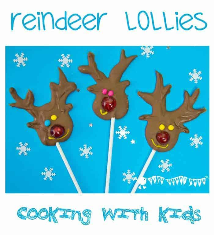 Christmas Cooking With Kids – Chocolate Reindeer Lollies
