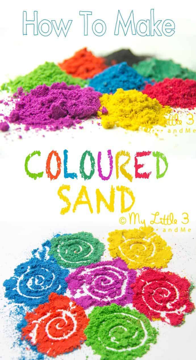DIY COLOURED SAND - Easy and fun to make vibrant colours for all your sand craft projects.