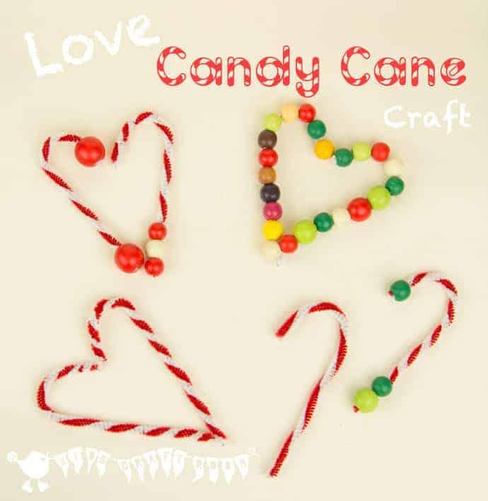 DIY Candy Cane Tree Ornaments