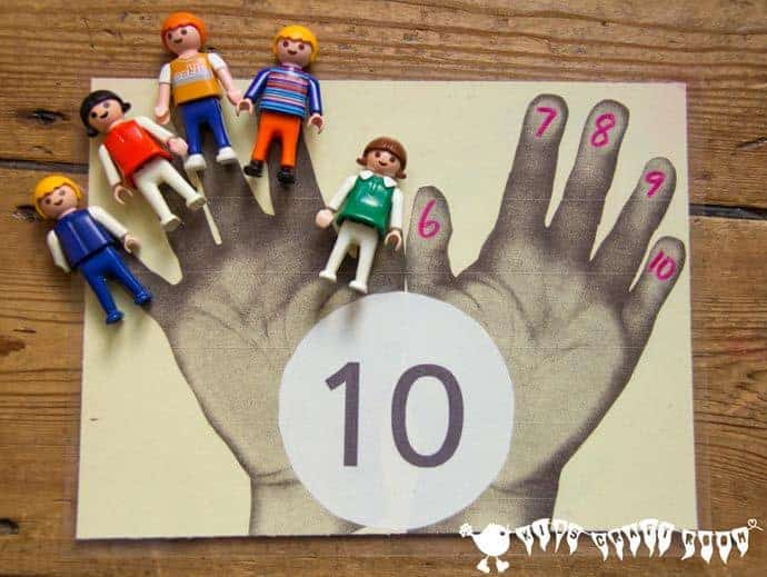 Handprint Maths! Count to 100 in 1's, 5's and 10's with this simple Counting and Times Tables Games set.
