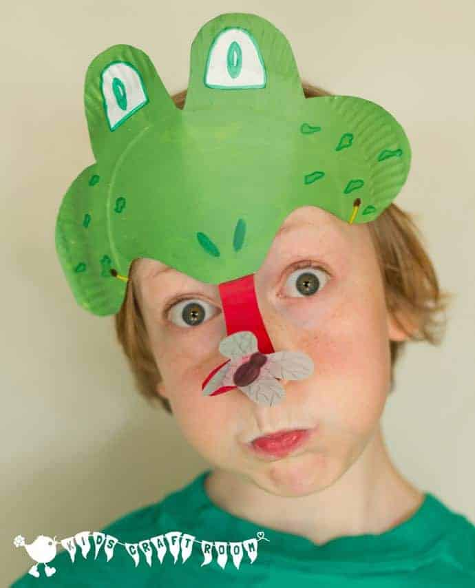 PAPER PLATE FROG MASK - perfect for a Spring and Summer frog craft and play activity & Paper-Plate-frog-mask - Kids Craft Room