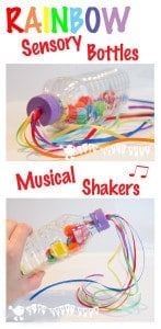 Sensory Play – Rainbow Bottles/Music Shakers