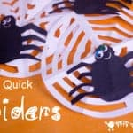 Make Really-Quick-Spider Decorations. Great For Halloween Or Incy Wincy Spider Song Props.