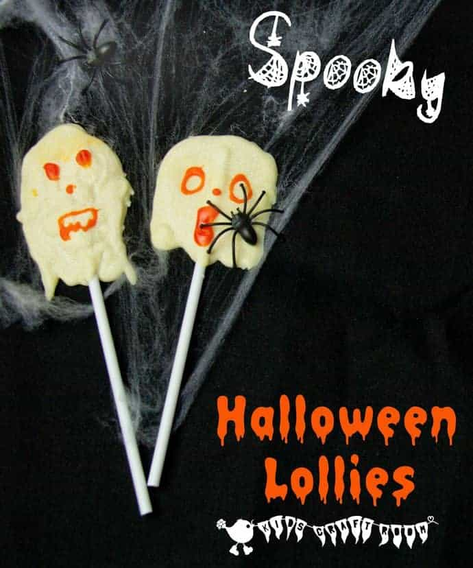Looking for Halloween food for kids and Halloween crafts for kids? Combine the two with Spook-tastic Ghost Lollies, a fun Halloween craft you can eat!