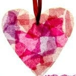 Make gorgeous Stained Glass Hearts from up-cycled milk jugs. A great Valentine's Day or Mother's Day craft for kids.