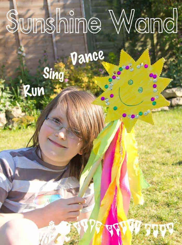 This Sunshine Wand is such a bright and cheerful Summer craft for the kids and a great way to encourage movement and self expression. Its long trailing ribbons will encourage kids to leap, dance and twirl spreading a little sunshine as they go.