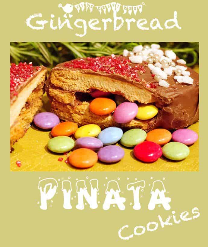 Pinata Gingerbread. A fun Christmas cookie recipe for the children to make, eat and share.