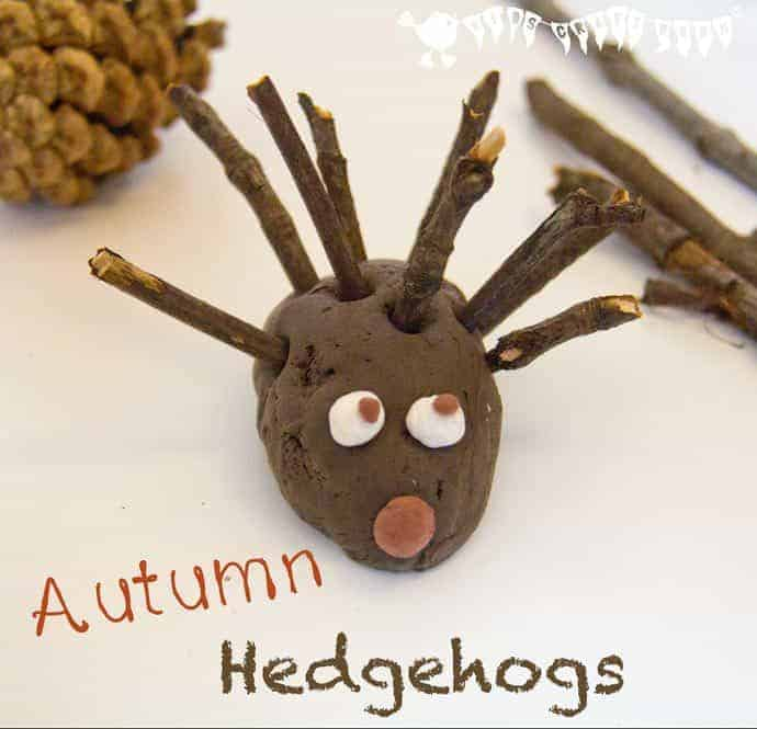 Make a Cute Hedgehog Family - A fun 3D Autumn craft for kids and a great way to develop fine motor skills.