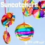 TISSUE PAPER SUNCATCHER CRAFT. These DIY suncatchers are a gorgeous Summer craft for kids. They look so bright and colourful and are super easy to make for all ages.