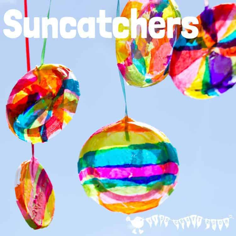 tissue paper suncatchers