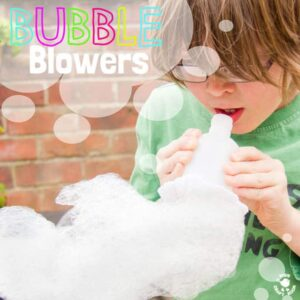 DIY BUBBLE BLOWERS Kids won't tire of making exciting wiggly Bubble Snakes. This simple and cheap bubble activity is great fun for the garden or bath time and quick & easy do.