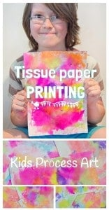 Printed Tissue Paper Art