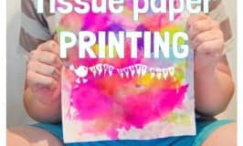TISSUE PAPER PRINTING - A bright and vibrant process art for kids.