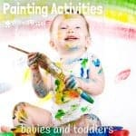 It's never too early to start introducing creative activities to children! Here are 12 FUN PROCESS ART PAINTING ACTIVITIES FOR BABIES AND TODDLERS. Some are super messy fun, stimulating all of the senses and some are mess free for times when you need it clean and easy! Each will allow your baby or toddler to explore, experiment and create in their own unique way.